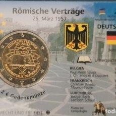 Euros: COINCARD 2 EUROS ALEMANIA 2007 - CECA G - TRATADO DE ROMA - TIRADA 5.000. Lote 294161258