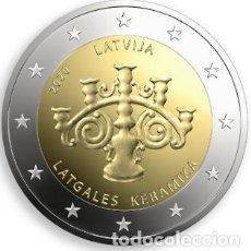 Euros: LETONIA 2 EUROS 2020 CERÁMICA LATGALIANA. Lote 294994303