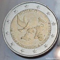 Euros: MÓNACO 2013 2 EUROS CONMEMORATIVOS BC MONEDA 2 € CONMEMORATIVA ADHESIÓN ONU. Lote 295449143