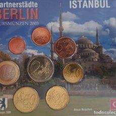 Euros: CARTERA / BLISTER ALEMANIA 2003 MESSE BERLIN - MONEDAS ALEMANIA 2003 CECA A - TIRADA 500. Lote 295979208