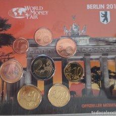 Euros: CARTERA / BLISTER WORLD MONEY FAIR BERLIN 2010 - MONEDAS ALEMANIA 2010 CECA F - TIRADA 25. Lote 295986148