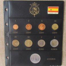 """Euros: SERIE COMPLETA ESPAÑA EUROS 2006 MONTADO EN HOJA BEUMER """"BBB"""" - 9 MONEDAS - INCLUYE 12 EUROS PLATA. Lote 295987183"""