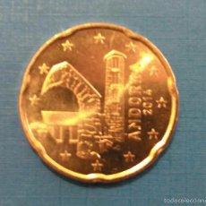 Monedas extranjeras: ANDORRA 20 CÉNTIMOS EURO 2014 SIN CIRCULAR. Lote 49087975