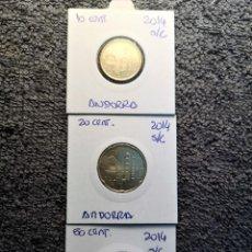 Monedas extranjeras: ANDORRA, 10, 20 Y 50 CENTIMOS 2014 DE CARTERA. Lote 163389150