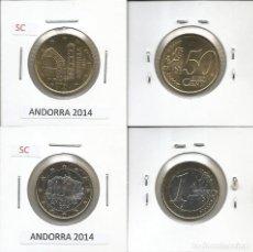Monedas extranjeras: ANDORRA 2014 - 50 CENT Y 1 EURO SC. Lote 177959038