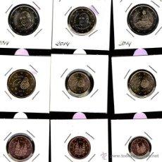 Monedas de Felipe VI: SERIE DE 10 MONEDAS DE EURO ESPAÑA 2014. Lote 48415960