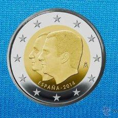 Monedas de Felipe VI: ESPAÑA 2014 - 2 EUROS COMMEMORATIVOS FELIPE VI - DE CARTUCHOS Y SIN CIRCULAR. Lote 134404943