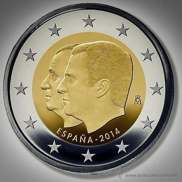 MONEDA CONMEMORATIVA DE 2 € ESPAÑA 2014. PROCLAMACIÓN (Numismática - España Modernas y Contemporáneas - Felipe VI)