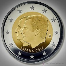 Monedas de Felipe VI: MONEDA CONMEMORATIVA DE 2 € ESPAÑA 2014. FELIPE VI. Lote 154564241