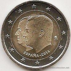 Monedas de Felipe VI: 2 EUROS ESPAÑA CONMEMORATIVA 2014 *CAMBIO DE TRONO REYNADO* ENCARTONADA. Lote 136636446