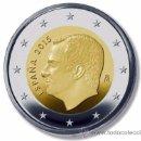 Monedas de Felipe VI: 2 EUROS ESPAÑA 2015 NUEVO TIPO REY FELIPE VI ENCARTONADA S/C. Lote 111920903