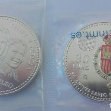 Monedas de Felipe VI: 2 MONEDAS DE PLATA DE 12 € 2004 Y 30 € FELIPE VI, 2018. Lote 209772492