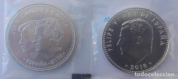 Monedas de Felipe VI: 2 Monedas de plata de 12 € 2004 y 30 € Felipe VI, 2018 - Foto 2 - 209772492