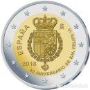 Monedas de Felipe VI: ESPAÑA 2018. MONEDA DE 2 EUROS CONMEMORATIVA DEL 50 ANIVERSARIO DEL REY FELIPE VI. Lote 160393553