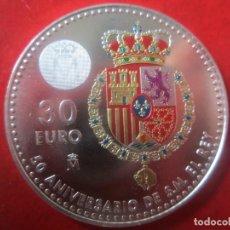 Monedas de Felipe VI: ESPAÑA. 30 EUROS CONMEMORATIVOS 50 ANIVERSARIO DEL REY. 2018. Lote 132880086