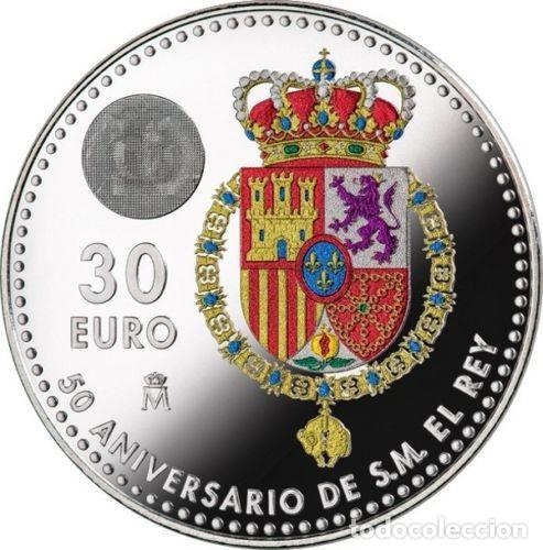30 EUROS ESPAÑA 2018 PLATA 50 ANIVERSARIO DE FELIPE VI (Numismática - España Modernas y Contemporáneas - Felipe VI)
