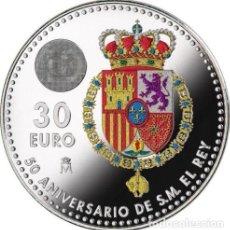 Monedas de Felipe VI: 30 EUROS ESPAÑA 2018 PLATA 50 ANIVERSARIO DE FELIPE VI. Lote 113341994