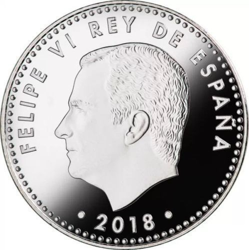 Monedas de Felipe VI: 30 euros España 2018 plata 50 aniversario de Felipe VI - Foto 2 - 193612572
