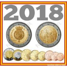 Monedas de Felipe VI: ESPAÑA: SERIE COMPLETA EURO 2018 LOS 10 VALORES S/C REY FELIPE V 2 EUROS. Lote 246270600