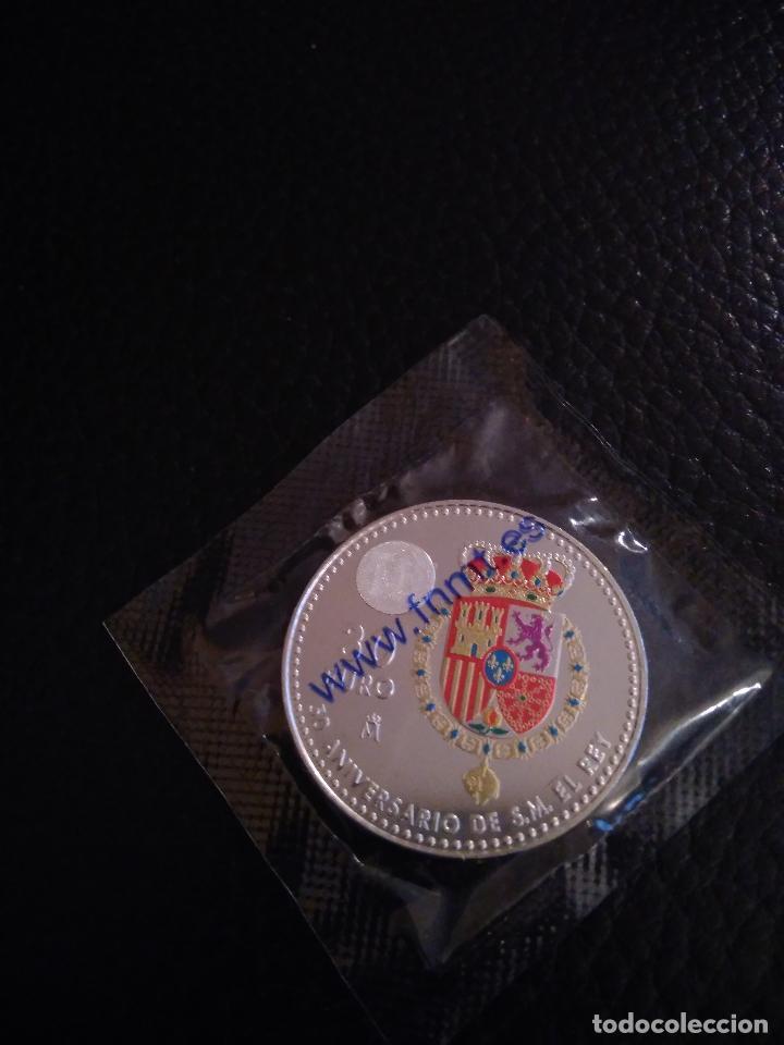 Monedas de Felipe VI: MONEDA 2018 CON DON FELIPE VI CONMEMORATIVA 50 AÑOS DEL REY FELIPE VI, CON COLOR, 30 EUROS - Foto 2 - 112932955