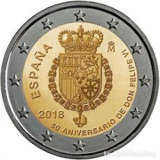 Monedas de Felipe VI: 2 EUROS ESPAÑA 2018 -NOVEDAD: 50 ANIVERSARIO. FELIPE VI-* MONEDA CONMEMORATIVA*-ENCAPSULADA-. Lote 160846221