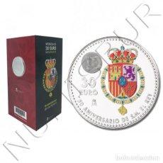 Monedas de Felipe VI: ESPAÑA SET OFICIAL FNMT 30 EURO PLATA 2018 S/C 50 CUMPLEAÑOS DEL REY FELIPE VI. Lote 113206403