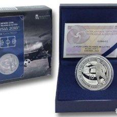 Monedas de Felipe VI: ESPAÑA: 10 EURO PLATA 2018 PROOF COPA MUNDIAL FIFA RUSIA 2018. Lote 119115267