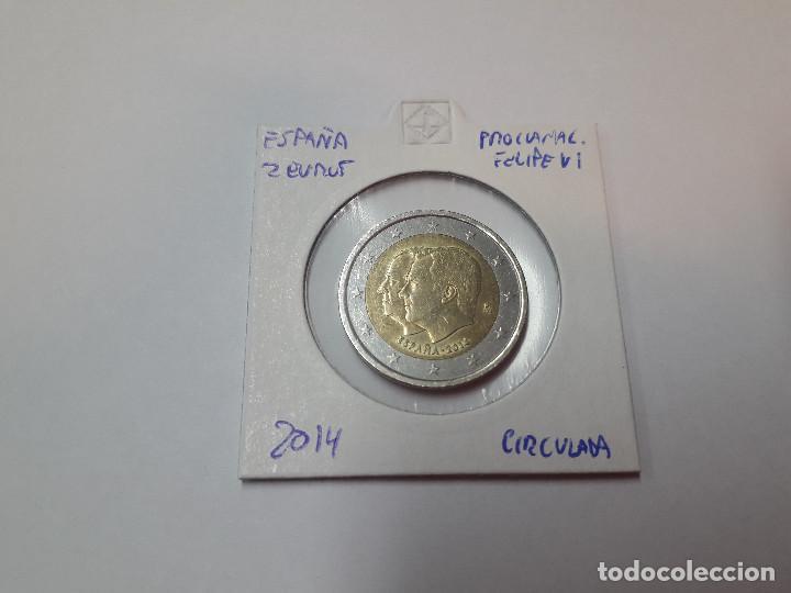 10-00097 - ESPAÑA 2€ 2014 -PROCLAM FELIPE VI (Numismática - España Modernas y Contemporáneas - Felipe VI)