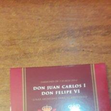Monedas de Felipe VI: ESPAÑA 2014 2 MONEDAS 2 EUROS JUAN CARLOS I Y DON FELIPE VI CARTERA. Lote 125288316