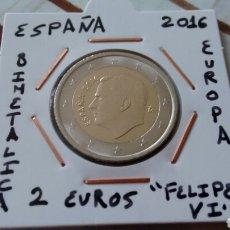 Monedas de Felipe VI: MONEDA 2 EUROS ESPAÑA 2016 EBC ENCARTONADA. Lote 131652265