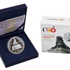 Monedas de Felipe VI: ESPAÑA: 10 EURO PLATA 2018 PROOF 40 ANIVERSARIO DE LA CONSTITUCION ESPAÑOLA. Lote 139998694