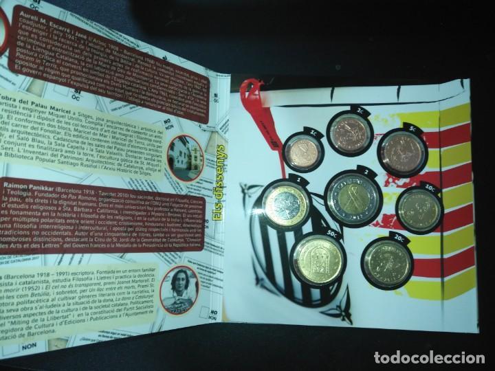 Monedas de Felipe VI: -NOVEDAD- CARTERA MONEDAS PRUEBA CATALUÑA 2018 - Foto 2 - 142305482