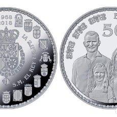 Monedas de Felipe VI: ESPAÑA 50 EURO PLATA 2018 PROOF 50 ANIV. DE S.M. REY FELIPE - CINCUENTIN. Lote 144985994