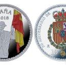 Monedas de Felipe VI: ESPAÑA 10 EURO PLATA 2018 PROOF 50 ANIV. DE S.M. REY FELIPE - 8 REALES (TIPO 2). Lote 144998570
