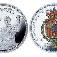 Monedas de Felipe VI: ESPAÑA 10 EURO PLATA 2018 PROOF 50 ANIV. DE S.M. REY FELIPE - 8 REALES (TIPO 3). Lote 144998838