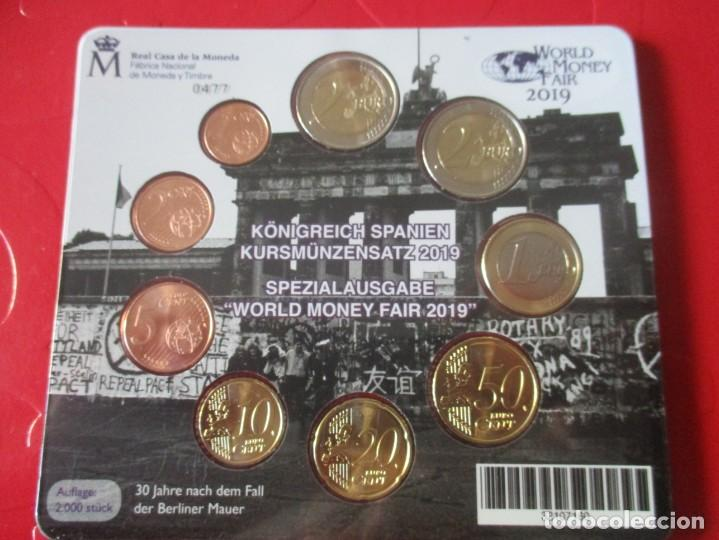 Monedas de Felipe VI: Blister monedas de españa. euros 2019 Emision especial para la feria de Berlin - Foto 2 - 150969682