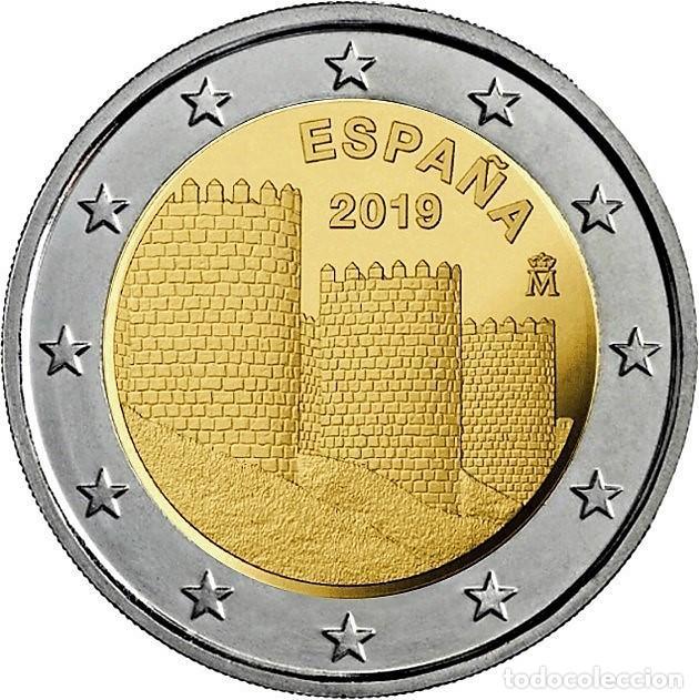 2 EUROS ESPAÑA 2019 -NOVEDAD: *MURALLAS DE AVILA* MONEDA CONMEMORATIVA*-ENCAPSULADA- (Numismática - España Modernas y Contemporáneas - Felipe VI)