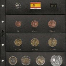 Monedas de Felipe VI: ESPAÑA 2016. TODAS LAS MONEDAS DEL AÑO 2016 EN HOJA PARDO CON CLARABOYAS.. Lote 158735442