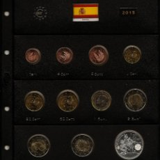 Monedas de Felipe VI: ESPAÑA 2015. TODAS LAS MONEDAS DEL AÑO 2015 EN HOJA PARDO CON CLARABOYAS.. Lote 158743194