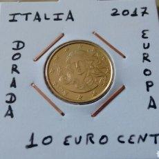 Monnaies de Felipe VI: MONEDA 10 EURO CENT ITALIA 2017 EBC ENCARTONADA. Lote 158845501