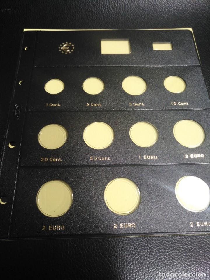 HOJA PARDO PARA MONEDAS 11 ALOJAMIENTOS (8 +2+2+2) REFERENCIA 179200 (Numismática - España Modernas y Contemporáneas - Felipe VI)