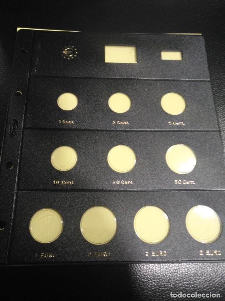 HOJA PARDO CLARABOYA PARA MONEDAS 10 ALOJAMIENTOS (8 +2+2+2) REFERENCIA 176000 (Numismática - España Modernas y Contemporáneas - Felipe VI)