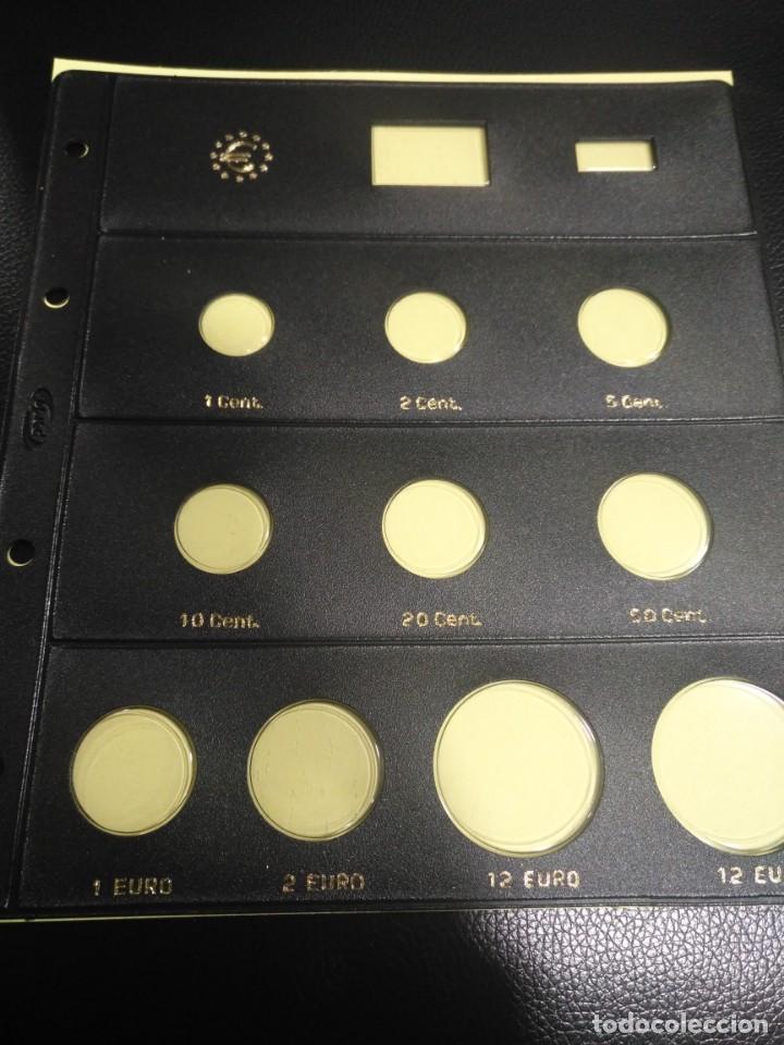 HOJA PARDO CLARABOYA PARA MONEDAS 10 ALOJAMIENTOS (8 +12+12) REFERENCIA 175000 (Numismática - España Modernas y Contemporáneas - Felipe VI)