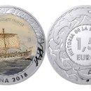 Monedas de Felipe VI: ESPAÑA 1,5 EURO 2018 NAVE COMBATE FENICIA 1ª SERIE HISTORIA DE LA NAVEGACION. Lote 160937710