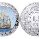 Monedas de Felipe VI: ESPAÑA 1,5 EURO 2018 NAVIO ESPAÑOL 1ª SERIE HISTORIA DE LA NAVEGACION. Lote 160938142