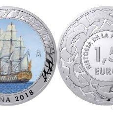 Monedas de Felipe VI: ESPAÑA 1,5 EURO 2018 NAVIO ESPAÑOL 1ª SERIE HISTORIA DE LA NAVEGACION. Lote 205145581