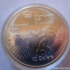 Monedas de Felipe VI: CANADA .10 DOLARES DE PLATA . XXI OLIMPIADA DE MONTREAL . GRAN TAMAÑO Y PESO . 48,60 G. SIN CIRCULAR. Lote 186630080