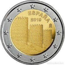Monedas de Felipe VI: 2 EUROS ESPAÑA 2019 *MURALLAS DE AVILA* MONEDA CONMEMORATIVA*-ENCAPSULADA-. Lote 221171253
