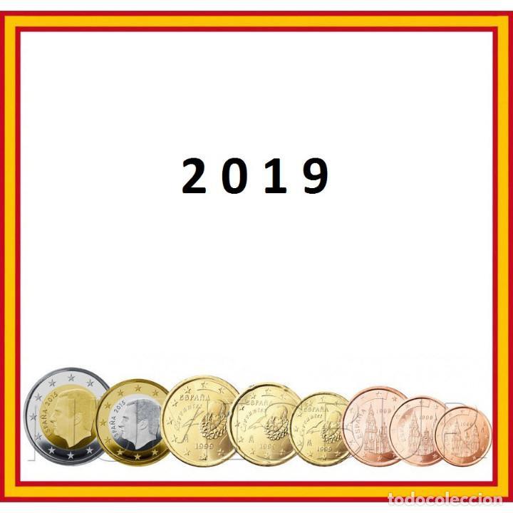 ESPAÑA: SERIE COMPLETA EURO 2019 LOS 8 VALORES S/C REY FELIPE V (Numismática - España Modernas y Contemporáneas - Felipe VI)