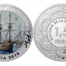 Monedas de Felipe VI: ESPAÑA 1,5 EURO 2019 NAO VICTORIA HISTORIA DE LA NAVEGACION 4ª SERIE. Lote 181445781
